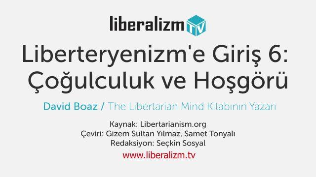Liberteryenizm'e Giriş 6: Çoğulculuk ve Hoşgörü