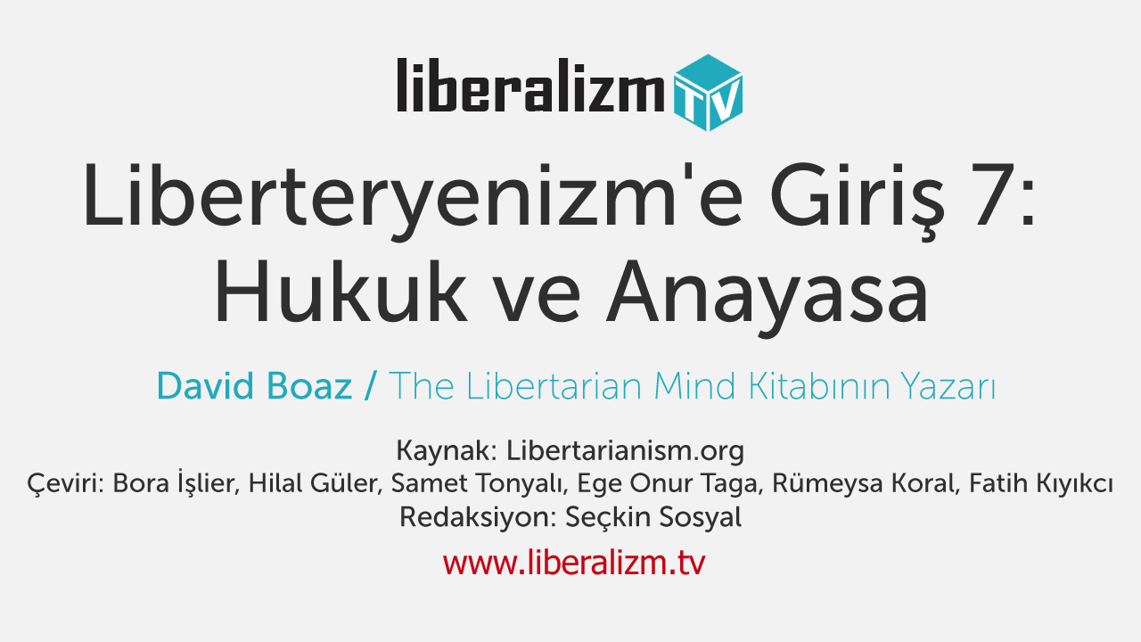Liberteryenizm'e Giriş